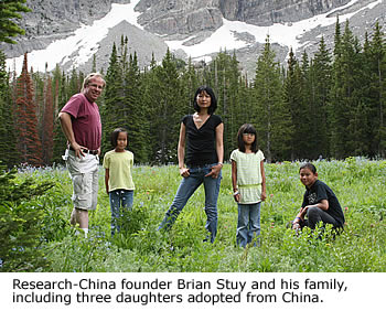 Longlan and Brian Stuy and daughters