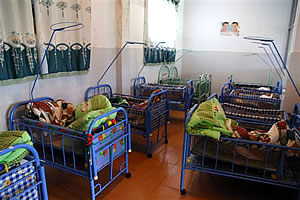 Nancheng County orphanage baby room
